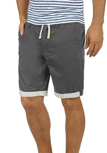 Twill-hose Kurz (BLEND Kankuro Herren Shorts kurze Hose Bermuda-Shorts aus 100% Baumwolle, Größe:XL, Farbe:Granite (70147))