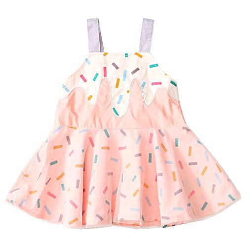 Kostüm Für Niedliche Zwillinge - squarex  Sommer Mädchen Sling Ice Cream Print Kleid Kleinkind Ärmelloser Rock Kinder Träger Kleid Baby Prinzessin Kleid Casual Rock Bequem