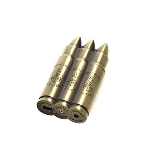 latinaric-accendino-classico-a-forma-di-proiettile-ricaricabile-tramite-usb-bronzo-3-balle-forme-b