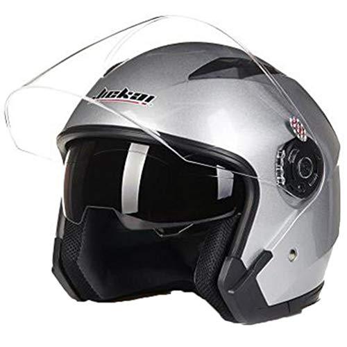 Männer Frauen Mountain Road Motorrad Helm Leichte Doppelscheibe Winddicht Anti Staub Jethelme Sicherheit Komfort Belüftung Erwachsene Fahrradhelm 57-64 cm