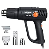 Heat Gun, Meterk Electric Heavy Duty Heat Gun Tool Set 2000W with 2 Modes Temperature Settings 4pcs Nozzles Overheating Protection for Stripping Paint Bending Pipes Lighting BBQ