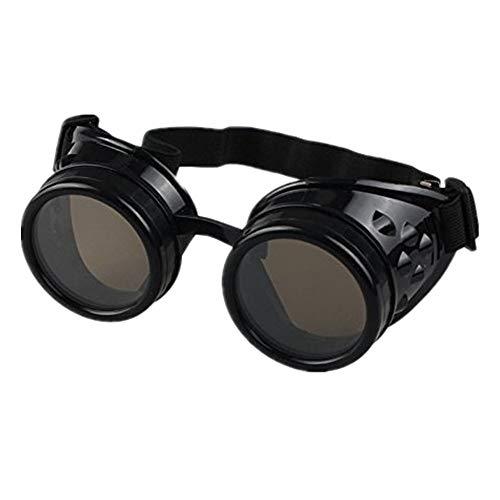 DAY.LIN Sonnenbrille Damen Herren Vintage Style Steampunk Brille Schweißen Punk Gothic Brille Cosplay (A)