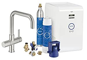 grohe blue starter kit u auslauf supersteel 31324dc1. Black Bedroom Furniture Sets. Home Design Ideas
