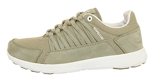 Supra Owen, Chaussons Sneaker Adulte Mixte - Laurel oak - white