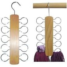 Hagspiel Kleiderbügel, 2 Stk. Tücherhalter oder Schalhalter aus Holz, Hartholz