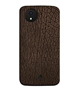 Fuson Designer Back Case Cover for Micromax Canvas Android A1 AQ4501 :: Micromax Canvas Android A1 (Pure Leathered Brown Color Girl Boy College)