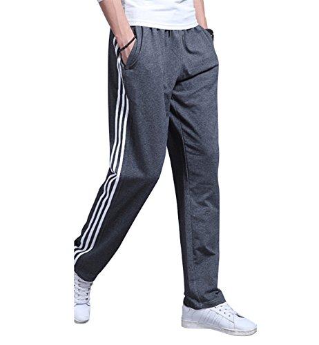 Lachi Hommes Pantalon de Sport Jogging Jogger Fitness Homme Survêtement Coton Slim Fit Respirant et Léger Printemps Été