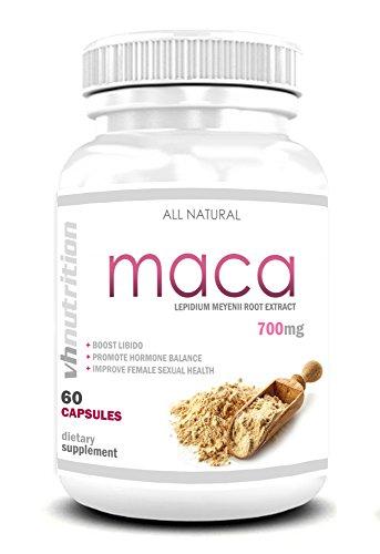 VH Nutrition polvere di radice di maca in capsule e compresse per uomini e donne adulte
