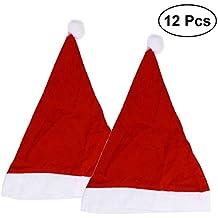 BESTOYARD Gorro de Santa Gorro de Navidad Gorro de Papa Noel para Adultos y  Niños Rojo 412febf771a