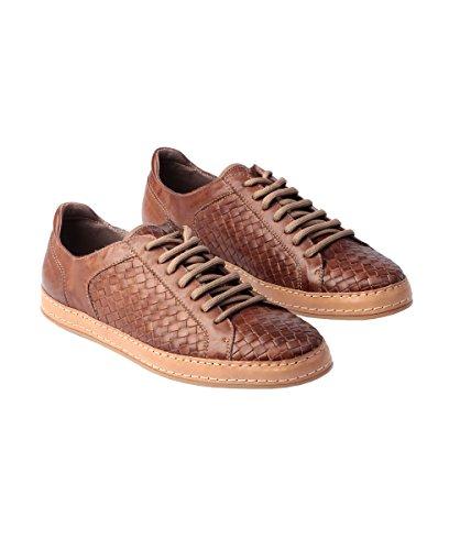 Florsheim Imperial Herren Schuhe aus gewebtem Leder Sneaker Pompei Taupe SNK 7 Eye 51194-84 (10.0 (44 EU))