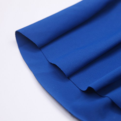 Vsecrety Damen Off Shoulder Bikini Set mit Hoher Taille Badeanzug Neckholder Bandeau Bademode(EU36-44) Blau