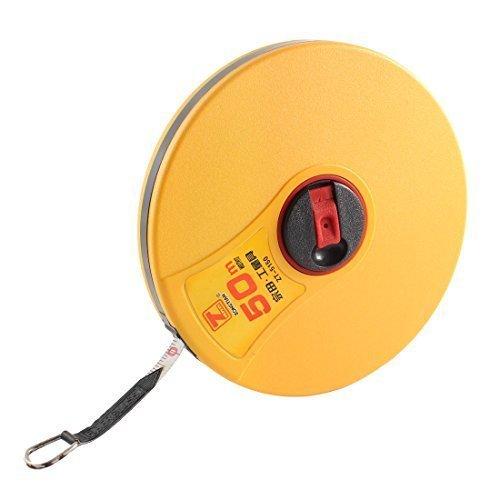 sourcingmap® 50M Glasfaser Gutachter Maßband Maß Werkzeug Gelb