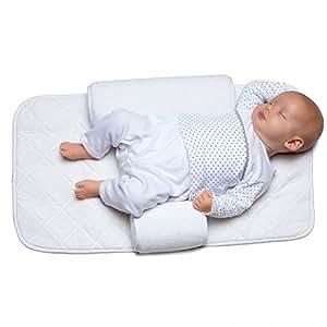 Molto - Coussin Anti-Roulement Support Bébé Positionnement Corps + Drap en Coton