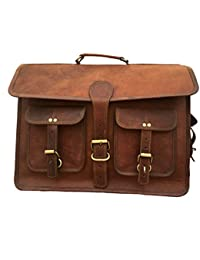 AURA CREATIONS Mens Messenger Bags Leather Brown Leather Cute Messenger Bag Men/women Laptop Genuine Leather Brown...
