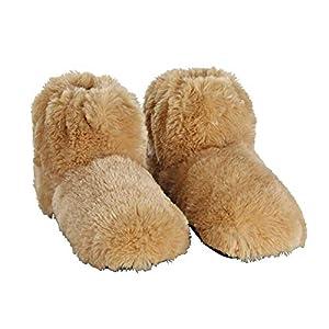 Habibi Plush Shoes Schuhe Wärmeschuhe Boots in beige Gr. M 37-40