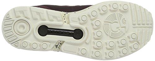 adidas ZX Flux, Scarpe da Corsa Unisex-Adulto Marrone (Maroon/maroon/chalk White)