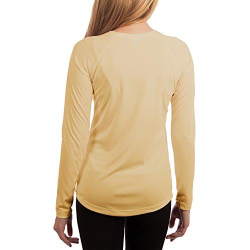 Vapor Apparel Damen UPF 50+ UV Sonnenschutz Langarm Performance T-Shirt Blass Gelb