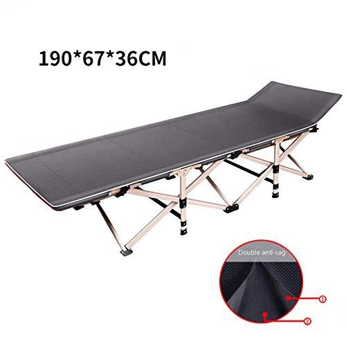 OMZBM Klapp Bett Mit Doppelseitigem, Hochwertigem Baumwollpolster-Falten Und Verstecken Für Einfache Aufbewahrung, 190 * 67 * 36Cm,Gray (Luxuriöse Bett-tasche)
