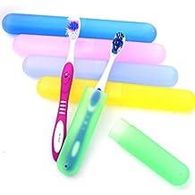 4pcs plástico cepillo de dientes cajas de tubo de protección Funda de accesorios de viaje