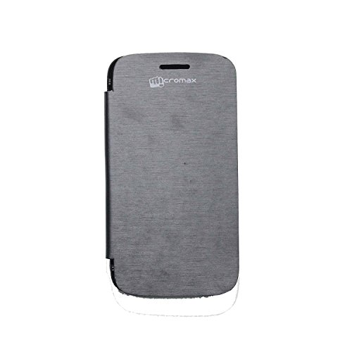 iCandy™ Synthetic Leather Flip Cover For Micromax Canvas 2 A110 - BLACK  available at amazon for Rs.155