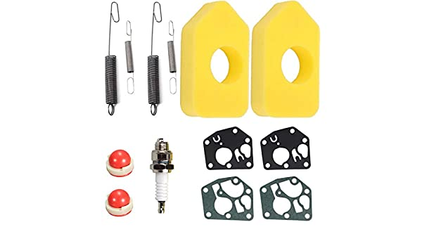 QAQGEAR Luftfilter mit Dichtung Vergaser Membran Reglerfeder f/ür Briggs /& Stratton 698369 Classic Sprint 795083 694394 692211 691859 Tuning Kits f/ür BS-Motoren