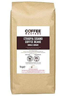 Coffee Masters Ethiopia Sidamo Coffee Beans 1kg by Coffee Masters
