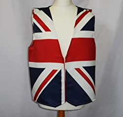 British Bulldog Design Waistcoat Fun & Fancy For All Occasions Festival Parties Small,medium,large,xlarge Sizes Available by L&S PRINTS