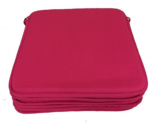 Alpes Blanc Lot de 6 Dessus de Chaise - Carré de Mousse - Victoria Fuschia