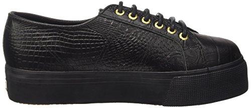 Superga 2790A Fglwembcocco femmes, cuir lisse, sneaker low Noir