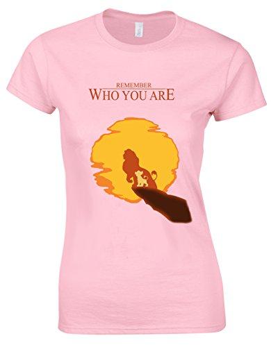 Mufasa zu Simba daran erinnern, wer Sie sind Lion King inspiriert Shirt Damen Schnitt Gr. X-Large, Soft-Pink -
