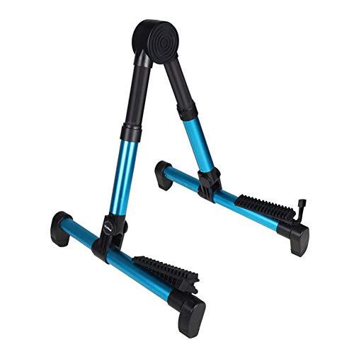 Sguan-wu Portable Foldable A Frame Soporte acústico para guitarra eléctrica Soporte de soporte musical - Azul