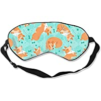 Natural Silk Eyes Mask Sleep Sleeping Corgi Blindfold Eyeshade with Adjustable for Travel,Nap,Meditation,Sleeping... preisvergleich bei billige-tabletten.eu