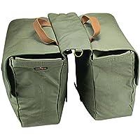 tourbon Tela Impermeabile Bicicletta Sedile posteriore Carrier bagagli borsa ciclismo doppio Roll-up Borsa posteriore, colore: verde