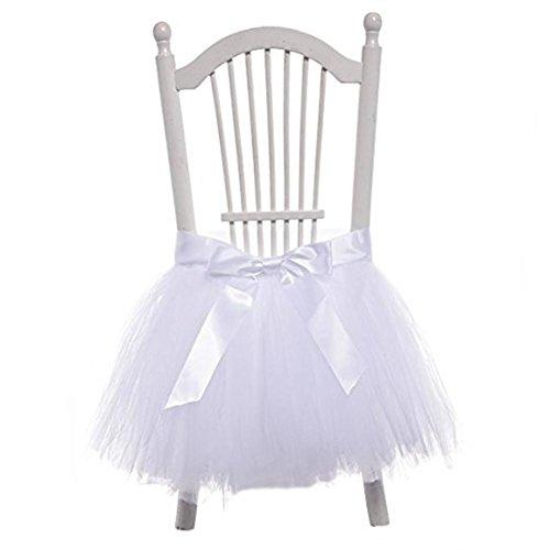 Stuhl Friseurstuhl Rock Tüll Schneeflocke Wonderland Stuhl Tuch Bezug für Party Stuhl Bezüge Baby Dusche Partei Hochzeit Geburtstag Dekoration Home Decor Mädchen, 45x 45cm (1Stück) 45*45 cm 2