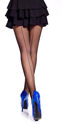Romartex verführerischen Netzstrumpfhose mit Naht, 4 Farben, M/L, schwarz (Naht-netzstrumpfhose)