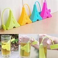 Silicone Paris Tower Loose Tea Bag Leaf Strainer Infuser Filter