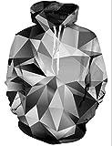 Goodstoworld Diamond Hoodie Herren Damen LustigeDruck Herbst Langarm Pullover Kapuzenpullover Sport Kapuze Kleidung