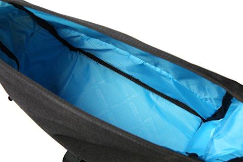 TOFERN Gepäckträgertasche Robust Mit Reflektorstreifen Satteltaschen Klettbefestigung Fahrradtasche dunkelblau