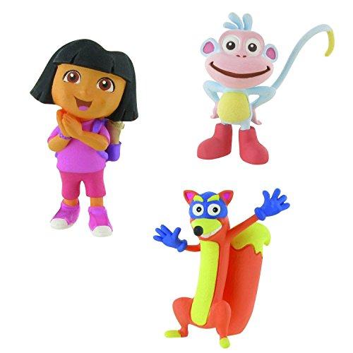 LOTE 3 FIGURAS Comansi Dora la Exploradora - Dora Ilusión - Botas - Swipper