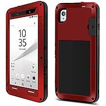 Carcasa para teléfono móvil modelos Sony Xperia Z5 Premium y Xperia Z5 Plus, de Eastcoo, protección hecha de aluminio de tanque, defensa resistente, protección Gorilla Glass impermeable, resistente a la lluvia, polvo, suciedad, nieva y golpes