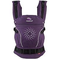manduca Babytrage > Limited Edition 2018 PurpleDarts < Hochwertige Stickerei, 100% Biobaumwolle, Bauch- Rücken- und Hüfttrage, für Babys von 3,5kg bis 20kg, lila mit Stickerei
