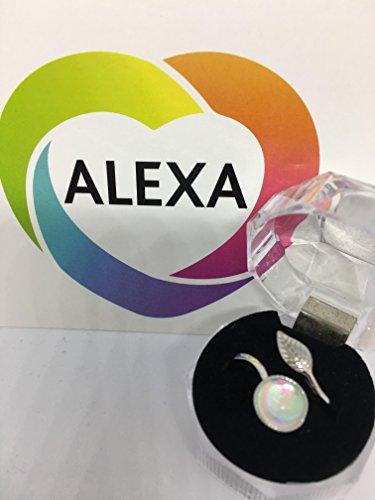 Alexa Mondstein Silber Ring für, Gesundheit und Glück. Gut für Unfruchtbarkeit, Konzeption und Damen Probleme Menstruationstasse. Schlaflosigkeit und Vertrauen. Reiki Blessed