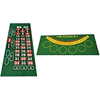 Blackjack y ruleta Reversible fieltro
