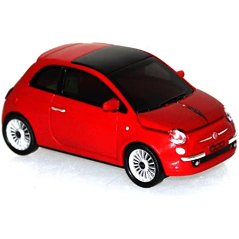 Click Car Fiat 500 wireless Mouse new red