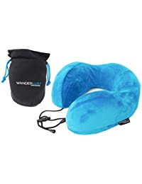 Premium U Shaped Memory Foam Neck Pillow for Travel with Carry Bag | Adjustable Fit by Wanderlust Travel Essentials