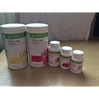 HERBALIFE ONE MONTH WEIGHT LOSS PROGRAMME. 2xFormula 1 (vanilla + strawberry) - 1x Herbal tea (original)-1x fibre -1x Multivitamin (for man)-