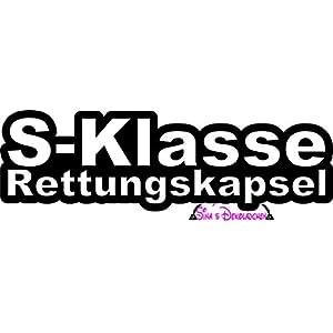 "Aufkleber.one -""S-Klasse Rettungskapsel"" Auto Aufkleber/Sticker"