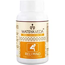 Matsya Veda Relimind For Sleep, Stress, Anxiety, Mood Support, Anger Management - 60 Capsules