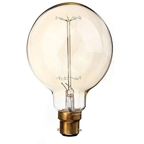 LED Sone Vintage Edison Globe Glühbirne 60W-Großer Eichhörnchen Käfig Globe 95mm B22BC dimmbar UK Lager (G95B22,)