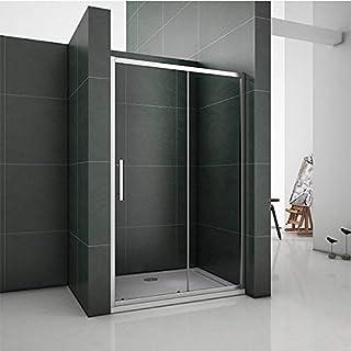 Aica 1200mm Sliding Shower Door Enclosure Chrome Cubicle 6mm Temperd Glass Screen